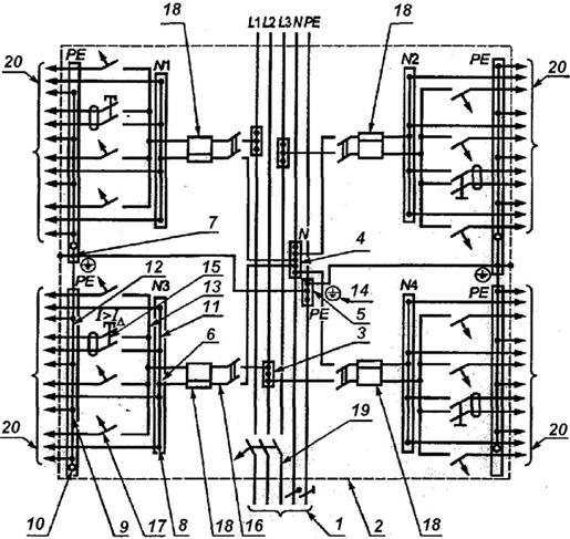 проводников распределительной