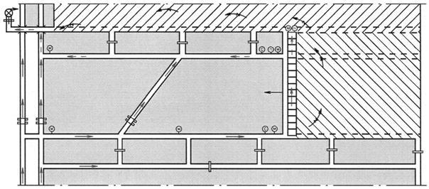 Схема проветривания выемочного