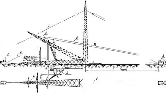 Схема подъема опоры П220-2