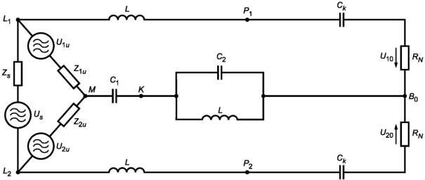 б) Эквивалентная схема