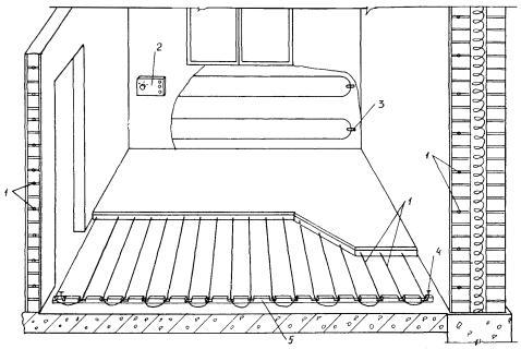 Схема монтажа нагревательного