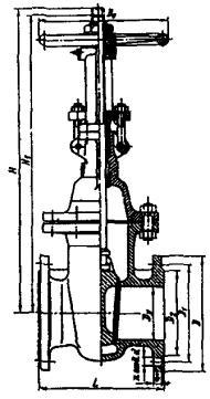 Задвижка ЗКЛ2 с выдвижным шпинделем 30с41нж1