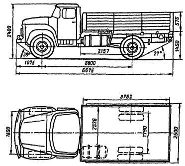 Кузов - деревянная платформа с