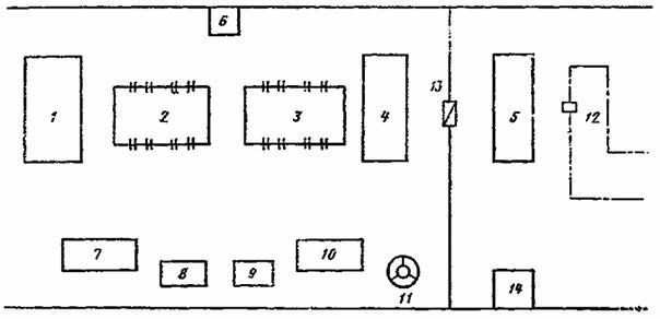 1 - подвесной конвейер для