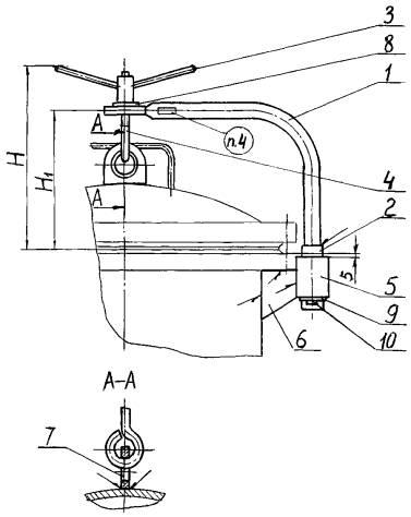 устройство подъемно поворотное для крышек люков