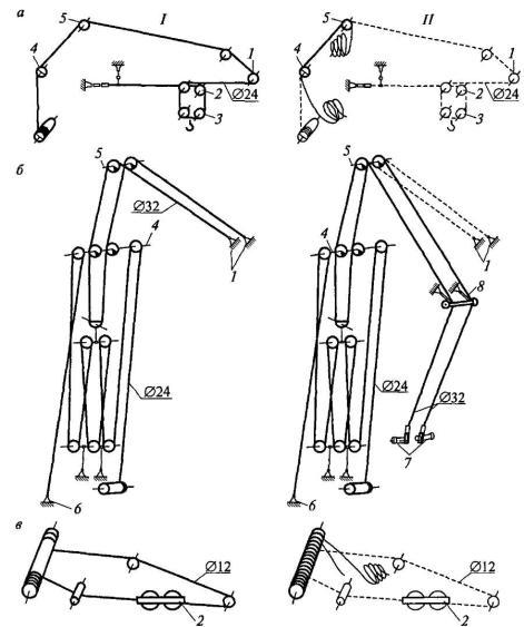 Схема запасовки канатов (на