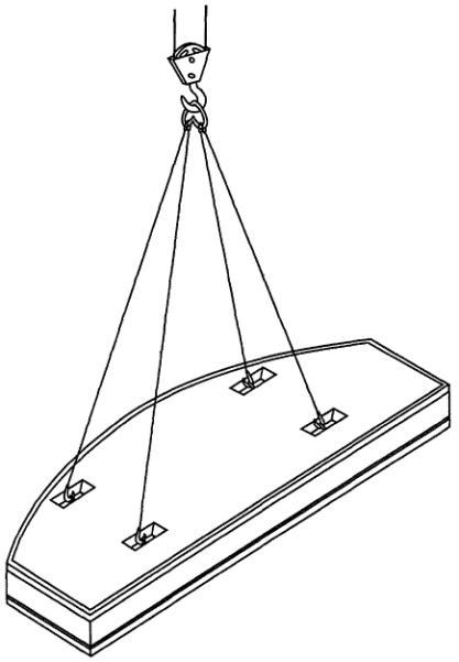 Схема 10. Строповка плиты