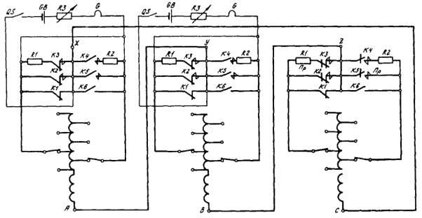 Схема осциллографирования