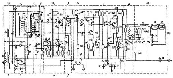 Принципиальная схема реле РЧ-1