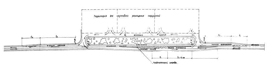 Пример (схема) съезда и выезда
